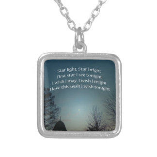 Star Light Star Bright Silver Plated Necklace