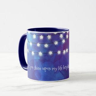 Star Lights on Cobalt Blue Mug