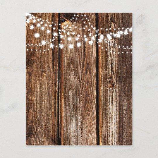 Star Lights Wood Grain Scrapbook Paper