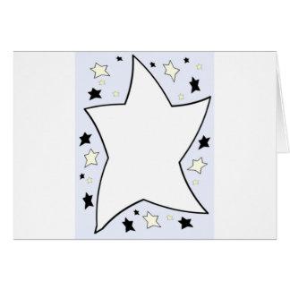 star lilac greeting card
