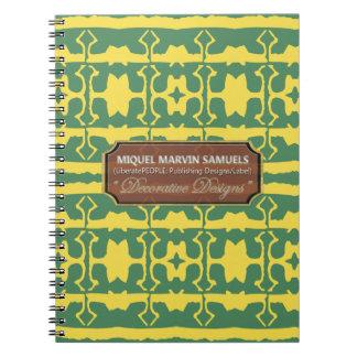 Star Line Decorative Green Yellow Notebook
