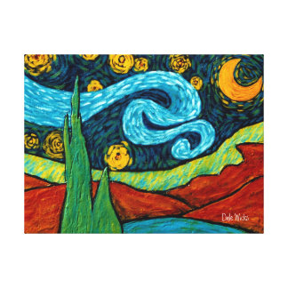 Star Lit Night Sky Canvas Print