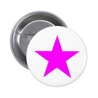 Star Magenta The MUSEUM Zazzle Gifts 6 Cm Round Badge