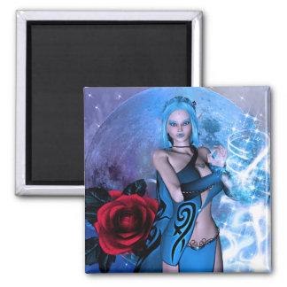 Star Maker Elven Fantasy Square Magnet