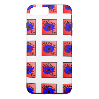 Star-man text with image red, black & blue phone c iPhone 7 plus case