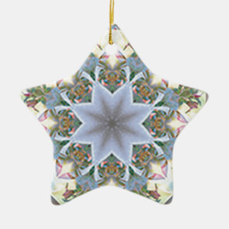 Star Mandala Ordament Ceramic Star Decoration