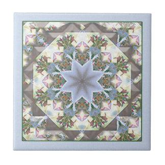 Star Mandala Trivet/Tile Small Square Tile