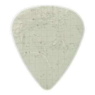 Star map acetal guitar pick