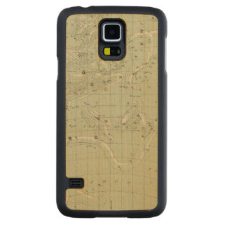 Star map carved maple galaxy s5 case