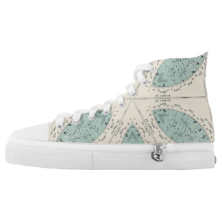 Star Map Flower High Tops