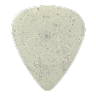Star map of North polar region Acetal Guitar Pick