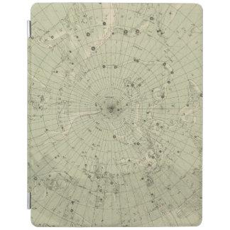 Star map of North polar region iPad Cover