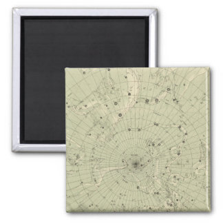 Star map of North polar region Square Magnet