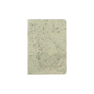 Star map of North polar region Passport Holder