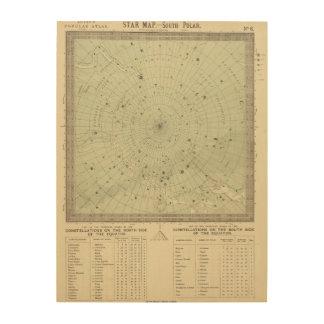 Star map of South polar region Wood Wall Decor