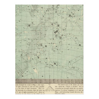 Star map postcard