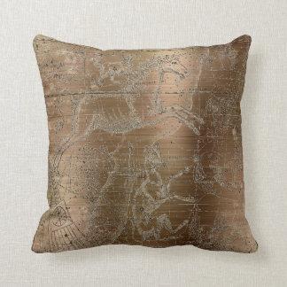 Star Map Unicorn Dog Canis Steel Maroon Drawing Cushion