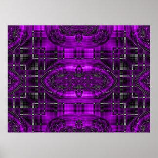 Star Maze Futuristic Fractals Poster