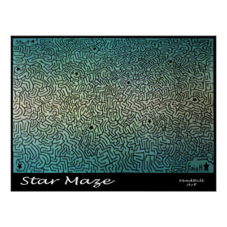 Star Maze Posters