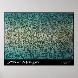 Star Maze Poster