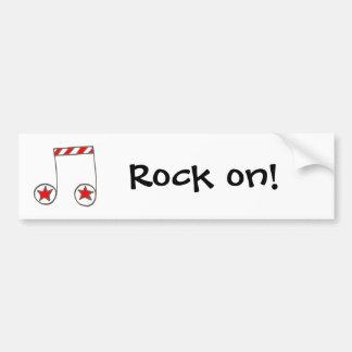 Star Musical Note Bumper Sticker