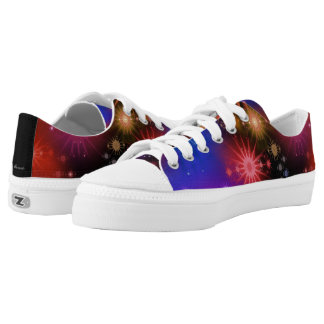 Star Nebula Low Top Printed Shoes
