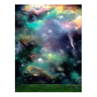 star night space nebula postcard