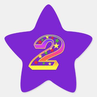 Star Number 2nd Birthday Party Sticker