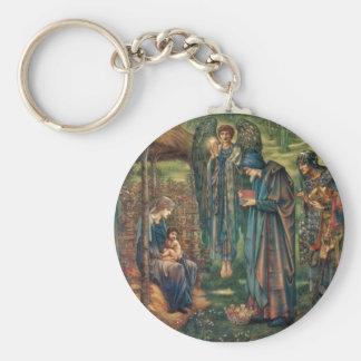 Star of Bethlehem Basic Round Button Key Ring