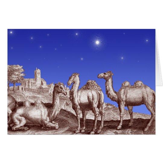 Star of Bethlehem Camels Card
