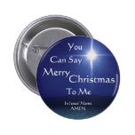 Star of Bethlehem, Can Say, Merry, Christmas, T... 6 Cm Round Badge