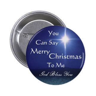 Star of Bethlehem, Can Say, Merry,... - Customised Pinback Button