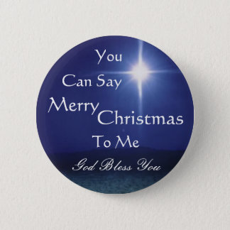 Star of Bethlehem, Can Say, Merry,... - Customized 6 Cm Round Badge