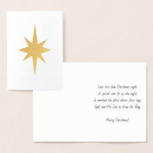 Late christmas gifts gift ideas zazzle uk star of bethlehem christmas card foil m4hsunfo