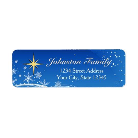 Star of Bethlehem Christmas Return Address Labels