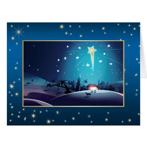 Star of Bethlehem. Customizable Big Christmas Card
