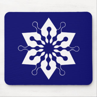 Star of Christmas Winter Ice Crystal Snowflake Mouse Pad