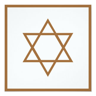 Star of David 13 Cm X 13 Cm Square Invitation Card