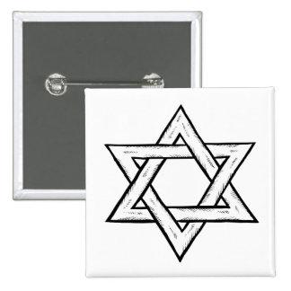 Star Of David 15 Cm Square Badge