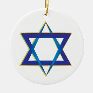 Star Of David 1 Round Ceramic Decoration