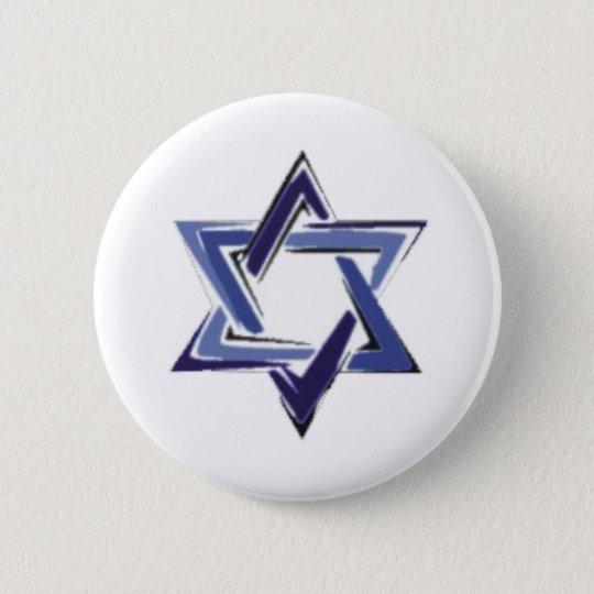 Star of David 6 Cm Round Badge