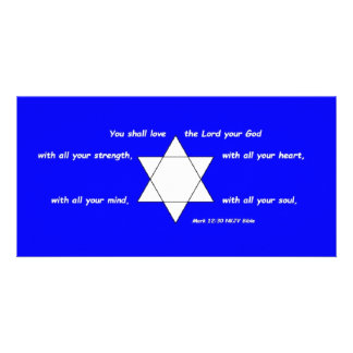 Star of David 8 x 4 Photo Card