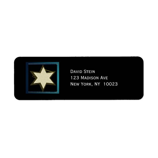 Star of David accent address labels