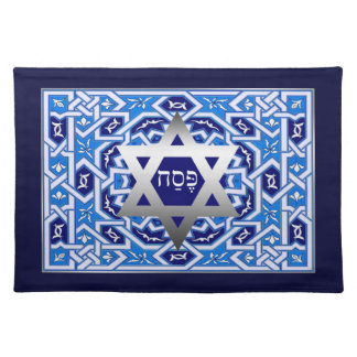 """Star of David and """"Pesach"""" Hebrew Text Placemats"""