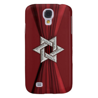 Star of David and Ribbon Red Galaxy S4 Case
