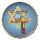 Star Of David and Triple Cross Plate