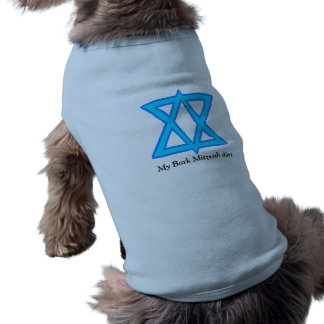 "Star of David ""Bark Mitzvah"" shirt for dogs Sleeveless Dog Shirt"
