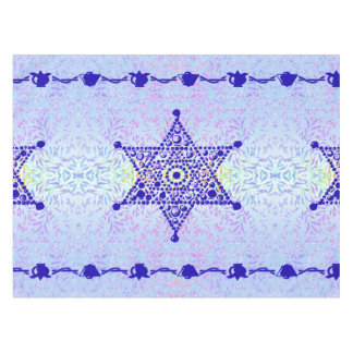 Star of David blue violet Tablecloth