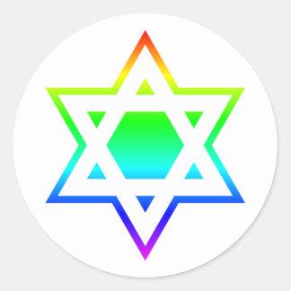 Star of David Classic Round Sticker