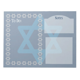 Star of David Customizable Notepad